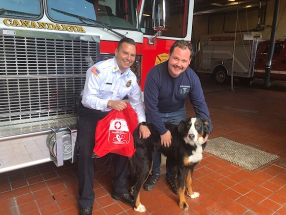 Invisible Fence Brand of Upstate NY delivers Project Breathe pet oxygen masks to Canandaigua Fire Department
