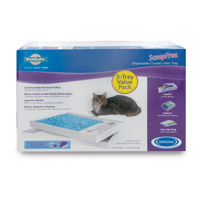ScoopFree Premium Blue Crystals Litter Trays- 3-Pack